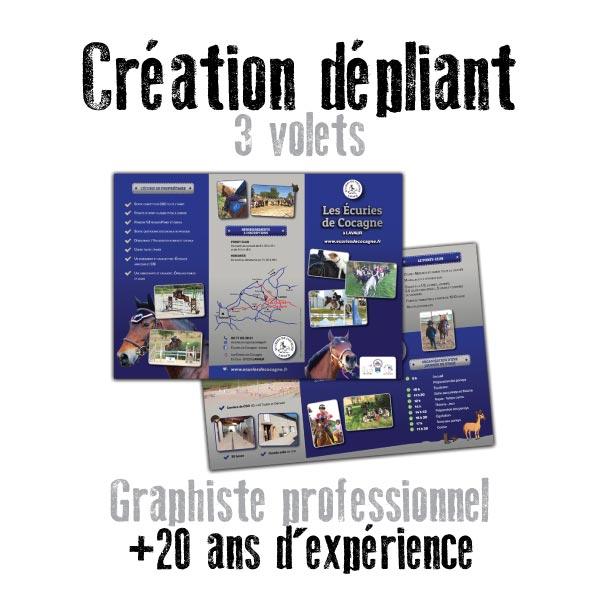 Création de dépliant 3 volet touristique et publicitaire par un graphiste de Toulouse dans le Sud Ouest et sur Paris