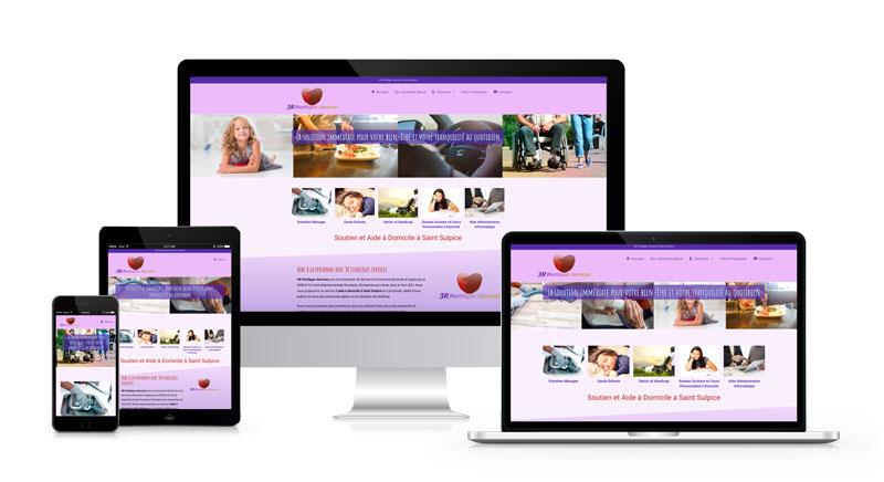 Exemple de Création de site internet dans le portfolio webmaster