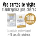 Carte de visite pas chere 1000 exemplaires par un graphiste pas cher de Toulouse