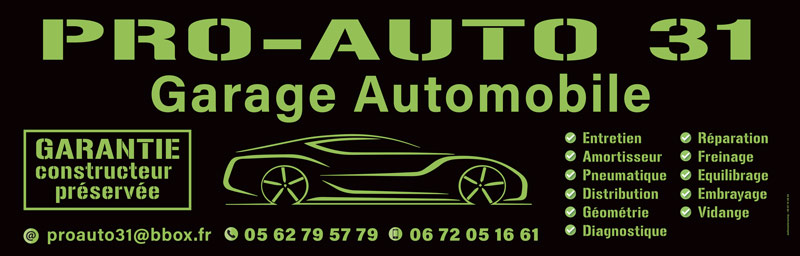 Panneau publicitaire pas cher de garage