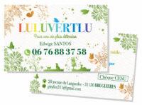Carte de visite par chère pour artisan par un graphiste à Toulouse