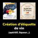 Création d'étiquette de vin, boissons, alcool et jus de fruits par un graphiste à Toulouse