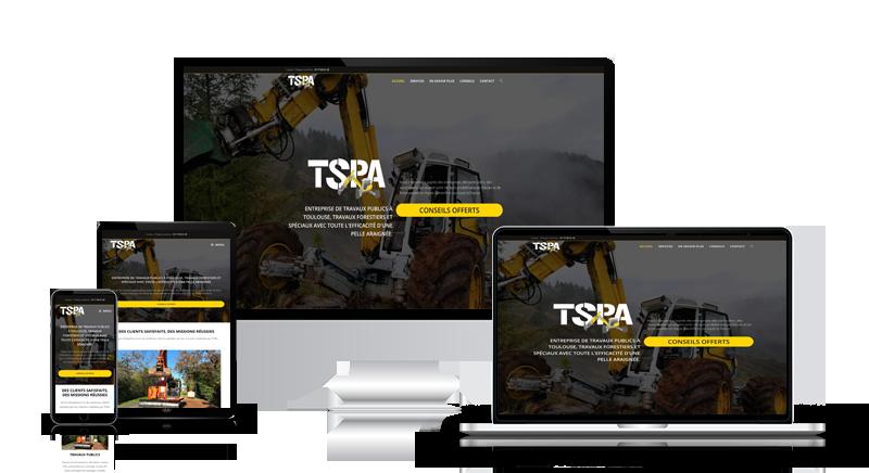 Création de site internet de travaux public