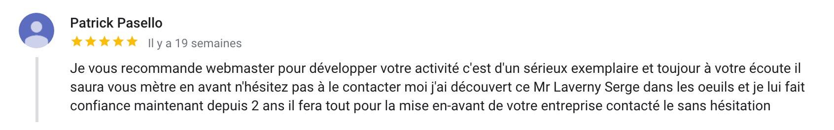webmaster à Toulouse avis client de webmasterautop