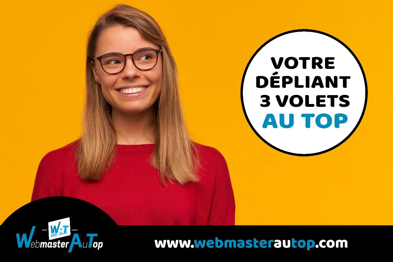 Création de dépliant 3 volets par un graphiste à Toulouse chez webmasterautop